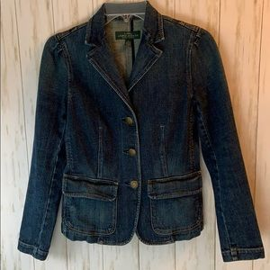 Lauren Jeans Co. Ralph Lauren Denim Blazer Jacket